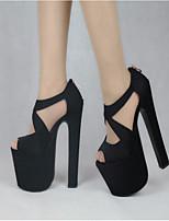 Women's Heels Spring Comfort PU Casual Black