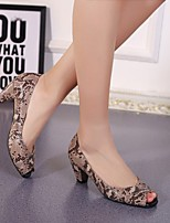 Women's Heels Spring Summer Club Shoes Other Animal Skin Dress Casual Chunky Heel