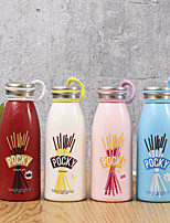 Creative Cute Colorful Opaque Glass Bottle With Ring (Random Type)
