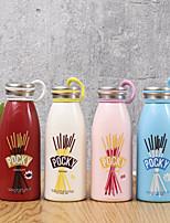Criativo bonito garrafa de vidro colorido opaco com anel (tipo aleatório)