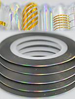 100pcs/box 1mm 20m Fashion Rainbow Sparkling Foil Striping Tape Line Decoration Nail Art DIY Beauty Laser Silver Glitter Foil Striping Tape Line