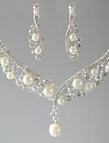 Жен. Ожерелья с подвесками Свисающие Искусственный жемчуг Стразы Базовый дизайн Бижутерия ДляСвадьба Для вечеринок Особые случаи День