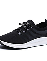 Men's Athletic Shoes Light Soles Tulle PU Spring Fall Casual Outdoor Light Soles Lace-up Flat Heel Black Gray Navy Blue Flat