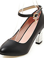 Women's Shoes Chunky Heel Pointed Toe Ankle Strap Pump More Color Available