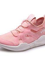 Women's Sneakers Summer Fall Comfort Leatherette Outdoor Casual Flat Heel Lace-up Fitness & Cross Training