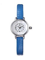 Women's Fashion Watch Quartz Leather Band Black White Blue Brown