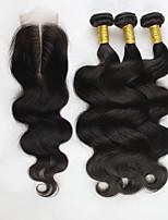 Человека ткет Волосы Перуанские волосы Естественные кудри 6 месяца 4 предмета волосы ткет