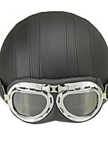 Casque Bol Casque avec lunettes ABS Casques de moto