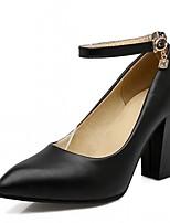 -Для женщин-Для вечеринки / ужина Для праздника Повседневный-Дерматин-На толстом каблуке-Удобная обувь-Обувь на каблуках
