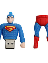 Novo cartoon criativo superman usb 2.0 64gb flash drive u memory stick disco