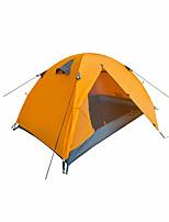 2 personnes Tente Double Tente pliable Une pièce Tente de camping 1500-2000 mm Oxford Taffetas en PolyesterRésistant à l'humidité Etanche