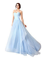 Formal Evening Dress Ball Gown Sweetheart Court Train Tulle with Side Draping