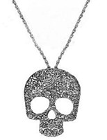 Gothic Skull Necklace Long Punk Euramerican Pendant Sweater Chain Necklace