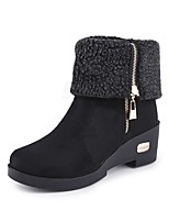 Women's Boots Spring Comfort Suede Casual Low Heel Camel Coffee Black