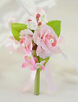 Bouquets de Noiva Rosas Alfinetes de Lapela Festa / noite Noivado Festa de Despedida de Solteiro Festa/Coquetel Algodão Seda
