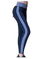 Femme Course / Running Respirable Confortable Yoga Polyester Athleisure Tenues de Sport Noir Gris Bleu Couleur Pleine