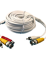 CCTV 20Meters 66ft 2.1x5.5mm DC 12V Power Video Audio 3in1 Extension Cable for CCTV Security Camera