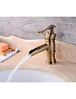 Contemporary Centerset Widespread with  Ceramic Valve Single Handle One Hole for  Antique Copper , Bathroom Sink Faucet