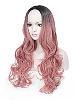 Middle Part Long Wave Synthetic Wig Women Hair/Wig Cosplay Wigs Likes Picture Color Wig Hair