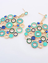 Stud Earrings Unique Design Fashion Vintage Bohemian Statement Jewelry Acrylic Alloy Circle Jewelry ForParty Special Occasion