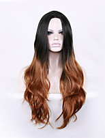 Long Body Wave Black Brown Women Synthetic Wig Fiber Cheap Cosplay Party Hair