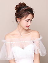 Women's Wrap Capelets Tulle Wedding Party/Evening Rhinestone