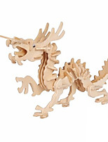 Puzzles Puzzles 3D Blocs de Construction Jouets DIY  Dragon Bois Maquette & Jeu de Construction
