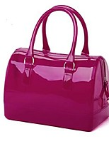 Women PVC Tote Fuchsia Yellow Purple Blushing Pink Orange