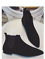 Femme-Décontracté-Noir KakiConfort-Mocassins et Chaussons+D6148-Polyuréthane