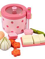 Brinquedos de Faz de Conta Toy Foods Modelo e Blocos de Construção Madeira Crianças