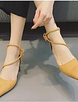 Calcanhares femininos conforto sintético casuais terra amarela preta