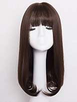 Fashion Brown Color Wave Synthetic Hair Daily Wigs for Women