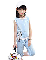 Girl summer cowboy short sleeve cartoon pirate print two pieces