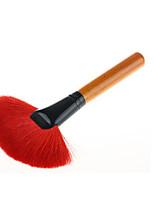 1pc מברשת פודרה מברשת שיער עזים נייד עץ גברים פנים נשים גברים ונשים
