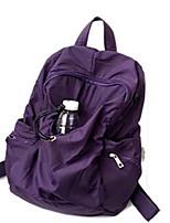 Women Backpack Oxford Cloth All Seasons Sports Outdoor Professioanl Use Camping & Hiking Climbing Bucket Ruffles Zipper Blue Black Purple