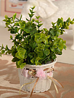 Small Basket Flower Decorative Accessories Simulation Flower Set Green Plants Home Decor(1 pc)