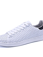 Women's Sneakers Spring Summer Mary Comfort Couple Shoes PU Outdoor Athletic Casual Flat Heel Lace-up White/Green Black/White Black