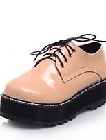 נשים-נעלי אוקספורד-דמוי עור-קריפרס--שמלה יומיומי-פלטפורמה מטפסים