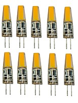 1.5W G4 LED Bi-pin Lights T 1 COB 250 lm Warm White Cool White Decorative AC/DC 12 V 10 pcs