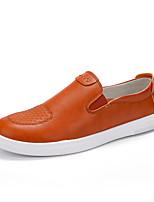 Белый Черный Оранжевый-Для мужчин-Повседневный-ДерматинУдобная обувь-Мокасины и Свитер