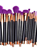 15pcs Purple Contour Brush Makeup Brush Set Blush Brush Eyeshadow Brush Lip Brush Brow Brush Eyelash Comb (Round) Eyelash Brush Concealer Brush Powder