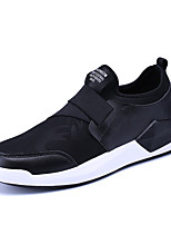 Men's Sneakers Comfort Spring Summer Fall Winter Pigskin Casual Rivet Flat Heel Black Black/White Black/Red Flat