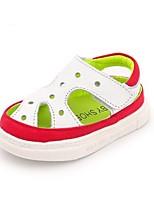 Kids' Baby Sandals First Walkers Cowhide Summer Casual First Walkers Flat Heel Ruby Blue Flat