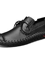 Men's Sneakers Light Soles Leather Spring Summer Casual Outdoor Light Soles Flat Heel Black Brown Flat