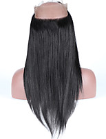Straight 360 Lace Frontal Closure Brailian Vingin Human Hair Pre Plucked 360 Lace Frontal with Baby Hair Natural Hairline  8-18inch Closure