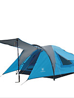 3-4 persons Tent Double Fold Tent One Room Camping Tent 2000-3000 mm Fiberglass Oxford Waterproof Portable-Hiking Camping
