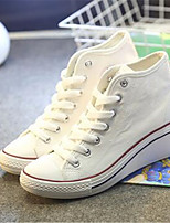 Women's Sneakers Spring Comfort Canvas Casual Wedge Heel White