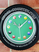 Retro Office/Business Food&Drink Houses Family Wall Clock,Novelty Acrylic Metal Others Indoor Clock