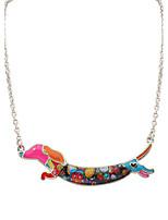 Men's Pendant Necklaces Jewelry Animal Shape Chrome Unique Design Logo Style Dangling Style Animal Design Crossover Punk Hip-Hop Rainbow