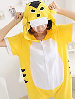 Kigurumi Pajamas Tiger Leotard/Onesie Festival/Holiday Animal Sleepwear Halloween Yellow Patchwork Cotton Kigurumi For UnisexHalloween